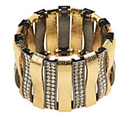 As Is Luxe Rachel Zoe Arch of Texture & Pave Stretch Bracelet - J331673