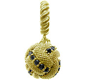Judith Ripka Sterling 14K Clad Diamonique BallDangle Charm - J339073
