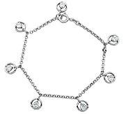 Diamonique Sterling 1.75cttw Dangle Charm Brace let - J340773