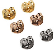 Stainless Steel 3 Sets of Earrings Clutches - J341373