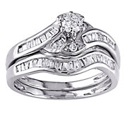 Round & Tapered Diamond Ring Set, 14K, 1/2 cttw, by Affinity - J344573