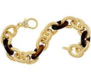 Judith Ripka 8 Verona Gemsstone Link 14K Clad Bracelet 37.5g - J347873