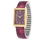 Isaac Mizrahi Live! Scroll Damask Print Expansion Watch - J350273