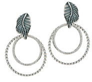 Or Paz Sterling Textured Double Circle Earrings - J351373