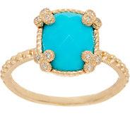 Judith Ripka 14K Gold Faceted Turquoise Ring - J352573
