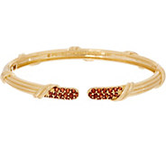 Peter Thomas Roth 18K Gold Garnet Pave Cuff Bracelet - J353273