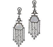Judith Ripka Sterling Silver Mother of Pearl Drop Earrings - J356673