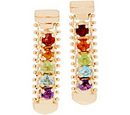 Imperial Gold and Gemstone Dangle Earrings, 14K Gold - J359373