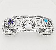 American West Sterling Silver & Gemstone Celestial Cuff - J360573