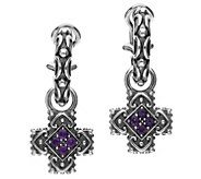 Elyse Ryan Sterling Silver Gemstone Cross DropEarrings - J385373