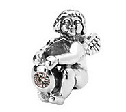 Prerogatives Sterling Angel with Birth CZ StoneAntiqued Bead - J108974