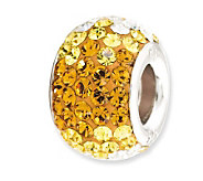 Prerogatives Sterling Golden Yellow Crystal Bead - J113174