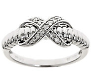 X-Design Diamond Ring, Sterling, 1/10cttw by Affinity - J310174