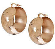 Bronze 1-1/4 Bold Round Hoop Earrings byBronzo Italia - J312074