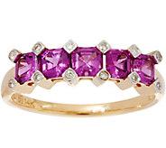 Asscher Cut Purple Rhodolite Garnet, Ring 14K, 1.00cttw - J335574