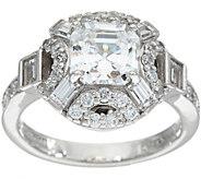 TOVA for Diamonique Asscher and Baguette Ring, Sterling - J347074