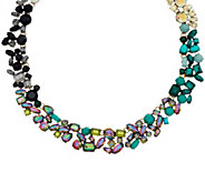 LOGO Links by Lori Goldstein Ombre Cluster Collar Necklace - J348974