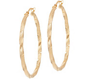 Bronze 1-1/2 Twisted Round Hoop Earrings by Bronzo Italia - J349374