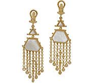 Judith Ripka 14K Clad Mother of Pearl Drop Earrings - J356674