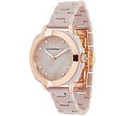 Isaac Mizrahi Live! Ceramic Cushion Dial Watch with Crystal Accents - J357374