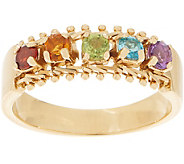Imperial Gold and Gemstone Band Ring, 14K Gold - J359374