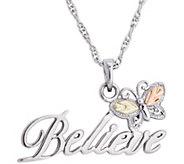 Black Hills Believe Pendant w/ Chain, Sterling/12K Gold - J377074
