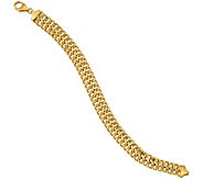 Italian Gold Double Curb Link Bracelet 14K, 8.9g - J377674