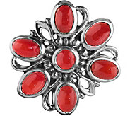Carolyn Pollack Sterling Magnetic Red Coral Cluster Insert - J380374