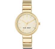 Nine West Ladies Goldtone Ettiah Bracelet Watch - J380974