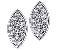 Affinity 14K 1/3 cttw Diamond Cluster MarquiseStud Earrings - J383674