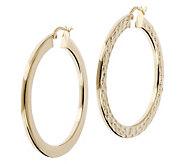 Veronese 18K Clad 1-1/2 Round Hoop Earrings - J390874
