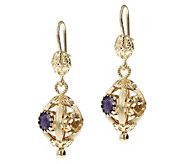 Arte d Oro 8.25 cttw Multi-Gemstone Dangle Earrings, 18K - J392574