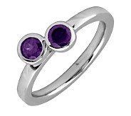 Simply Stacks Sterling & Amethyst Double CircleRing - J299375