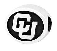 Sterling Silver University of Colorado Bead - J300775