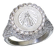 Sterling Miraculous Mary Ring - J303775