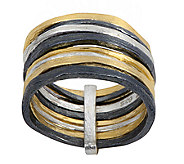 Or Paz Sterling Multi-Band Ring - J338375