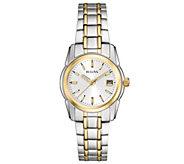 Bulova Womens Two-tone Stainless Steel Bracelet Watch - J343575