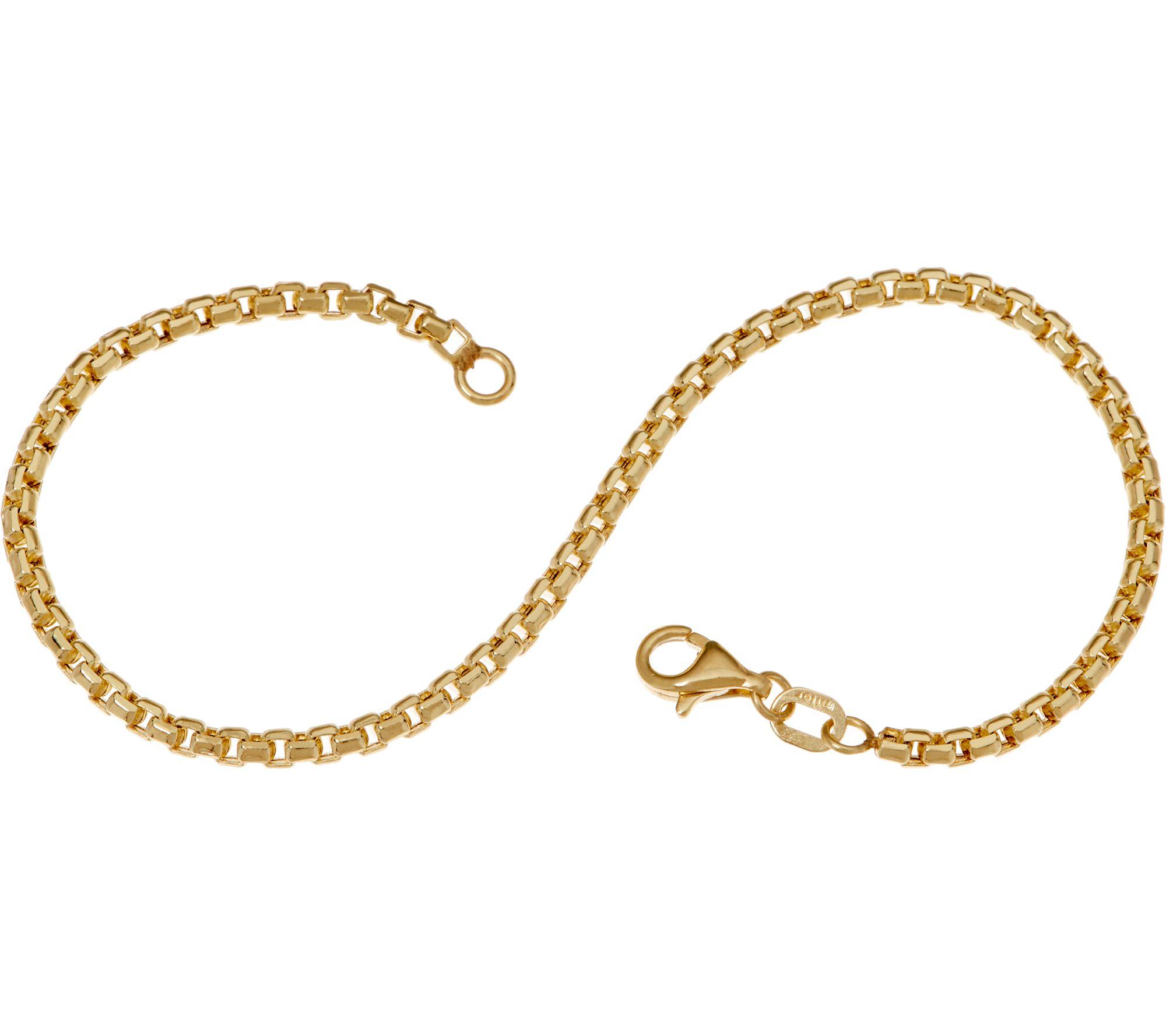 Italian Gold 6 3 4 Round Box Chain Bracelet 14k 2 1 Gr Qvc