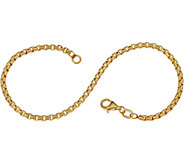 Italian Gold 6-3/4 Round Box Chain Bracelet, 14K 2.1g - J353475