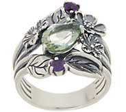 Or Paz Sterling 1.70 cttw Gemstone Floral Ring - J354975