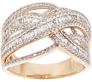 As Is Diamond Crossover Ring, 3/4 cttw, 14K, by Affinity - J356975