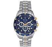 Bulova Mens Marine Star Stainless ChronographBracelet Watch - J384475
