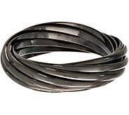Linea by Louis DellOlio Gunmetal Rolling Bangle Bracelet - J390575