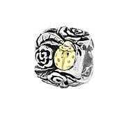 Prerogatives Sterling and 14K Gold Ladybug Floral Bead - J108576