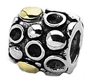 Prerogatives Sterling and 14K Gold Dots Bali Bead - J109276