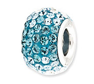 Prerogatives Sterling Bright Light Blue CrystalBead - J113176