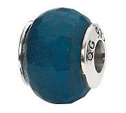 Prerogatives Sterling Dark Blue Quartz GemstoneBead - J298176