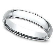 Sterling Silver Milgrain 3MM Unisex Wedding B and Ring - J309976