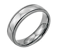 Stainless Steel 6mm Polished Milgrain Ring - J314276