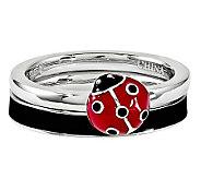 Simply Stacks Sterling Ladybug Ring Set - J314576